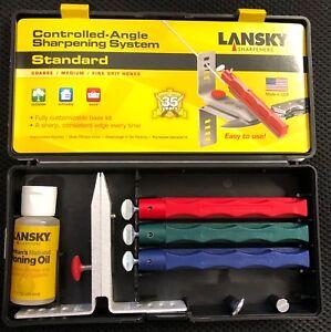 Lansky Standard 3 Stone Knife Blade Controlled Angle Sharpening System