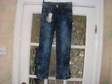 Chicas Jeans du Jin Joya Tachonado bolsillos traseros y botones de pierna Joya Talla 26 BNWT
