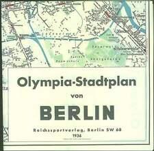 Berlin 1936 Olympia Stadtplan Plan Olympiade Reichssportfeld Reichshauptstadt RP