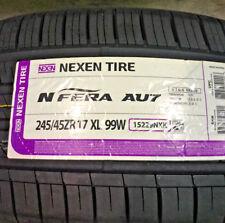 2 New 245 45 17 Nexen N'Fera AU7 Tires