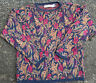Vintage 90's Crossings Colorful Floral Distressed Sweater, Vintage Coogi Design
