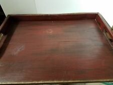 Primitive Stove Cover Noodle Board Hand Crafted Burgundy wood Made To Order