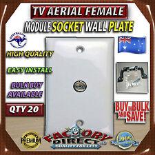 20xBulk BuyTV Aerial Antenna Female Socket Module Wall Face Plate Outlet Bracket