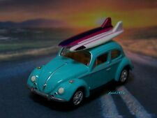 1966 66 VW BUG VOLKSWAGEN SURF BEETLE 1/64 SCALE  MODEL COLLECTIBLE - DIORAMA