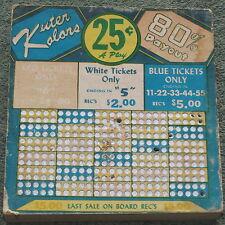 Vintage Kuter Kolors Punch Board Trade Stimulator