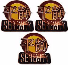 Serenity Series Firefly Episode Metal Enamel Costume Pin Set of 3