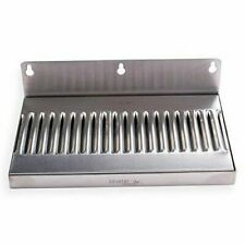 10 In Draft Beer Wall Mount Drip Tray - 304 Stainless Steel - No Drain New
