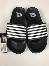 akademiks YOUTH sandals for boys size 6 Black