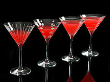 Set of 4 MIKASA Cheers CRYSTAL GLASS Martini COCKTAIL Glasses