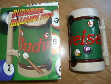 BILLIARDS TANKARD -BUDWEISER COLLECTABLE POOL PLAYERS