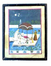 Indian Old Rare Collectible Kangra Beautiful Decorative Framed Painting. i54-15