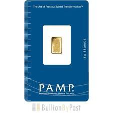 PAMP 1 G Gold Bar battirent