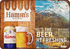 Hamm's Beer and Mount Rainier vintage look reproduction metal sign 8 x 12