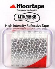 "LiteMark Red/White High Intensity Light Focusing Reflective Tape (2"" X 36"" Roll)"