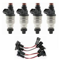 4 Pcs Set  Fuel Injectors for EVO 3 4 5 6 7 8 9 RX-7 4G63T High Impedance New