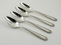 Westmorland Lady Hilton Sterling Silver Oval Soup Dessert Spoons - Set of 4
