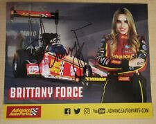 Signed Brittany Force NHRA Hero Card
