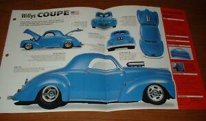 ★★1940 WILLYS COUPE ORIGINAL IMP BROCHURE SPECS INFO 40 DELUXE HOT ROD 40 41 42★