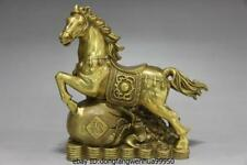 Chinese brass copper Zodiac Year Horse Wealth Money Horse Successful luck Statue