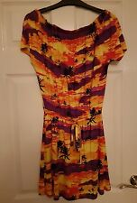 BNWT Ladies Resort Palm Tree Dress Size 8