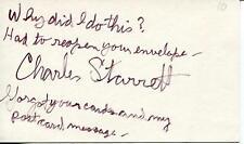 CHARLES DURANGO STARRETT WESTERN ACTOR IN THE DURANGO KID SIGNED CARD AUTOGRAPH