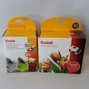 Original Sealed KODAK 10 Series BLACK & COLOR Ink Cartridge Combo Pack