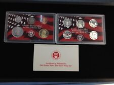 2003-S Complete SILVER Proof Set w Box and COA