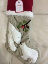 Pottery Barn Kids Christmas Woodland Polar Bear Stocking! NWT No Monogram