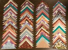 100 piece New & Vintage Quilt Blocks Fabric Triangles Quilting Crafts lot #520B