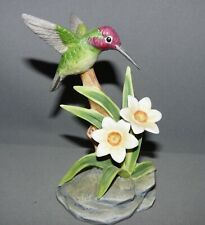 Andrea by Sadek Bird Figurine Costa's Hummingbird 1986 Hand Painted Mint