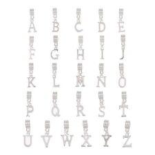 """PD: 26 Mix Versilbert Charm Anhänger European Buchstaben """"A-Z"""" Dangle Beads"""