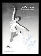 Claudia Villinger Autogrammkarte Original Signiert Eiskunstlauf+A 139301