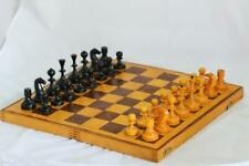 Vintage original Soviet Russian Wooden chess board set USSR CCCP