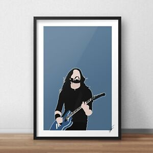 Dave Grohl INSPIRED WALL ART Print / Poster Minimal A4 A3 foo fighters nirvana
