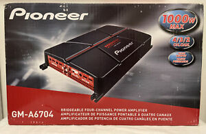 Pioneer GM-A6704 B 1000 Watts 4-Channel Class AB Full Range Car Audio Amplifier