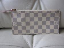 Brand New! Louis Vuitton Pochette Felicie Zip Coin Pouch Insert Damier Azur ONLY