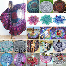 Round Mandala Tapestry Hippie Outdoor Bedspread Wall Hanging Beach Towel Blanket