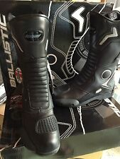 JOE ROCKET BALLISTIC TOURING  MOTORCYCLE LEATHER BOOTS MENS SIZE 8 US /7UK
