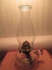 CLEAR GLASS FINGER BRACKET LAMP FONT & CHIMNEY