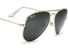 Best Seller RAYBAN Metal Aviator Gold G-15 Lens Sunglasses RB 3025 L0205 58 3O25