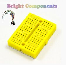 Solderless Prototype Breadboard (170 Points) + 65 Jumper Wires - Yellow