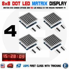 4pcs Max7219 Red Dot Matrix 8x8 88 Led Display Module Arduino Raspberry Pi