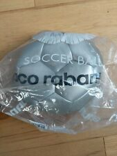 """Silver Pacco Rabanne Invictus 8.5"""" Collector's Soccer Ball With Pump"""
