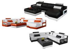 Cuero Conjunto de Muebles para Salón Sofá Esquinero Diseñador Lujo L6005