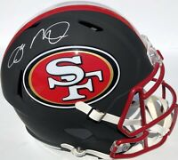 JOE MONTANA SIGNED SAN FRANCISCO 49ERS FLAT BLACK HELMET PSA/DNA SUPER BOWL