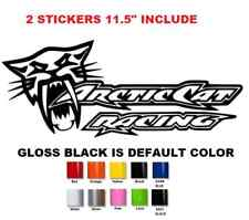 (#656) 11.5'' pair arctic cat racing decal sticker sno pro xf zr hcr limited