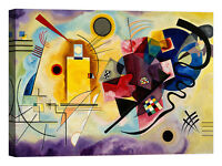 Wassily Kandinsky Yellow, Red & Blue Stampa su tela Canvas effetto dipinto