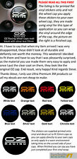 Wheel Cap Decal sticker to fit OZ Racing 68mm dia printed optionen x4