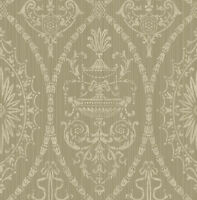 Regal High End Victorian Damask GUNMETAL BRONZE TAUPE Double Roll Wallpaper