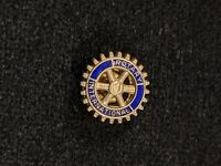 Vintage Rotary International Gold Tone Screw Back Lapel Pin 12258